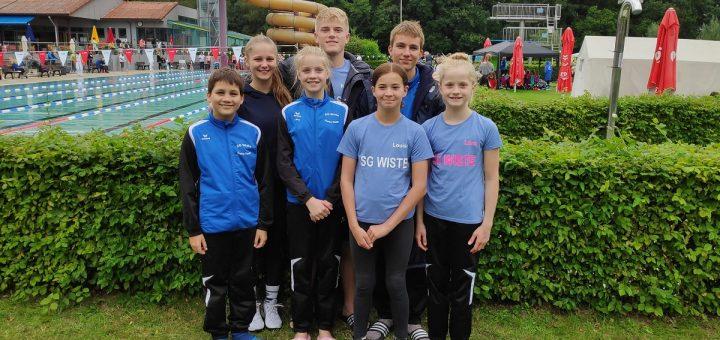 v. l.: Ben, Lisa, Lara, Robin, Louisa, Tom und Lena